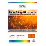 Papel Fotográfico Matte Nobucolor A4 200 Gr. 50 Hojas