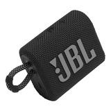 Parlante Jbl Go 3 Portátil Con Bluetooth Black
