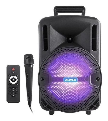 Parlante Portátil Bluetooth Karaoke Luces Led 2000w Liviano