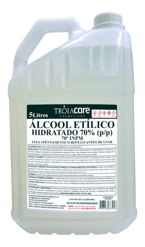 Álcool Liquido 70% Troia Care 5l Loja Limpeza Hospital
