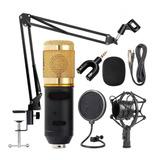 Bm 800 Microfone Condensador + Suporte  + Pop Filter