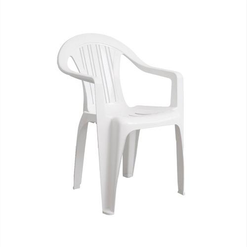 Sillon Plastico Reforzado Antideslizante Mica Blanco