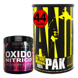Combo Fuerza Animal Pak + Oxido Nítrico Arginina Genetic