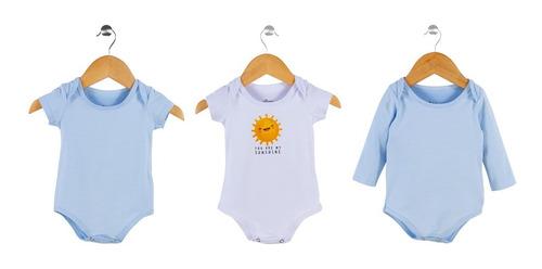 Kit 3 Bodies Bebê Menino Sol - Elian