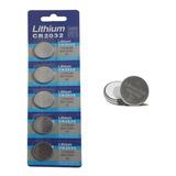 Pilha Bateria Lithium Moeda Cr2032 3v - 5 Unidades Cartela