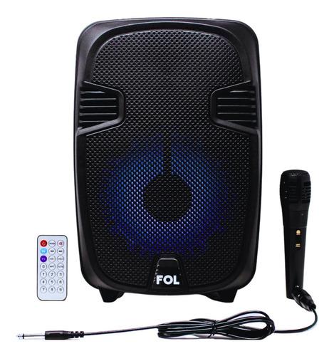 Bocina Fol Bluetooth Micrófono Karaoke Música Inalámbrica