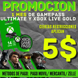 Game Pass Ultimate + Xbox Live Gold Para Consolas Xbox Y Pc!