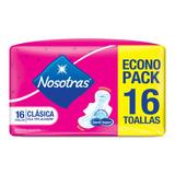 Toallitas Femeninas Nosotras Clásica Tipo Algodón Con Alas 16u