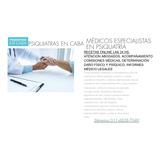 Psiquiatra, Recetas Online, Consultas, Comisiones Medicas