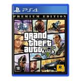 Gta 5 Ps4 Grand Theft Autoto V Mídia Física Lacrado Com Mapa