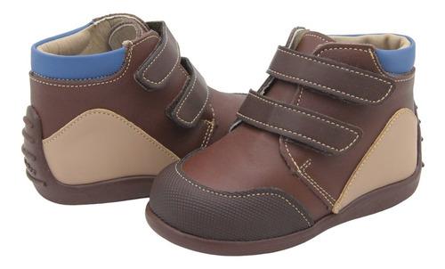 Zapato Marca Andanenes Para Niño Soporte Arco Café 12-15