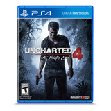 Uncharted 4: A Thief's End Standard Edition Físico Ps4