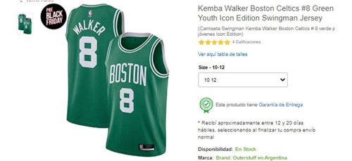 Camiseta De Basketball Original Boston Celtic Tamaño M 10/12