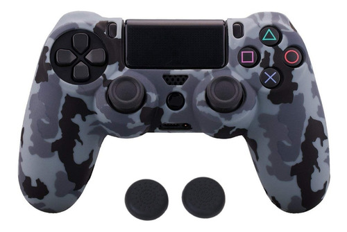 Forro Protector Silicona Water Print + Grips Control Ps4