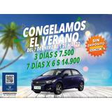 Alquiler De Auto Sin Deposito / Veranea 7 Días X 6 / $14.900