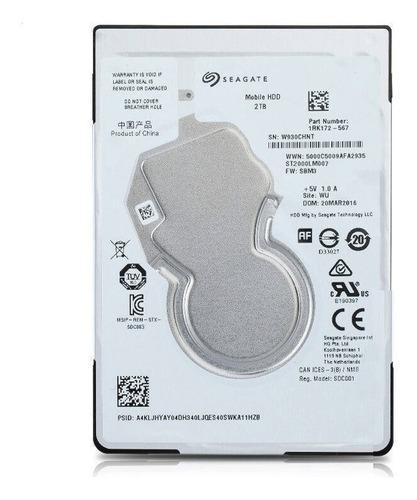Disco Rígido Ps4 Notebook-net- Seagate 2tb 2.5  5400rpm 7mm