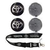 Tapa Emblema Logo De Aro Toyota 60mm