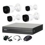 Dahua Kit Seguridad Dvr 4 Ch Hdmi P2p + 4 Camaras Full Hd 1080p 2mp Interior Exterior Ip 67 + Accesorios Cctv
