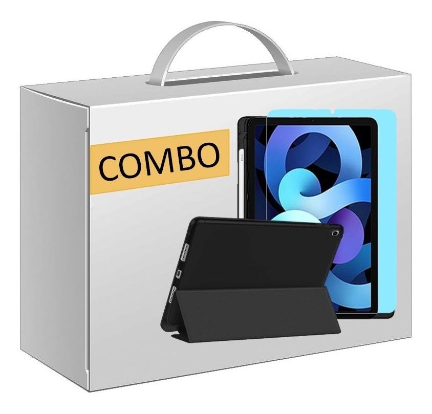 COMBO FUNDA SMART COVER CON ESTUCHE LAPIZ PARA IPAD 10.9 NEGRA