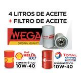 Cambio Aceite 10w40 Shell + Filtro De Aceite Para Vw Gol