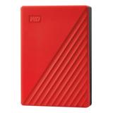 Disco Duro Externo Western Digital My Passport Wdbpkj0040 4tb Rojo