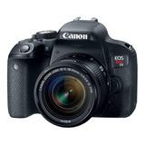 Canon Eos Rebel Kit T7i + Lente 18-55mm Is Stm Dslr Cor  Preto