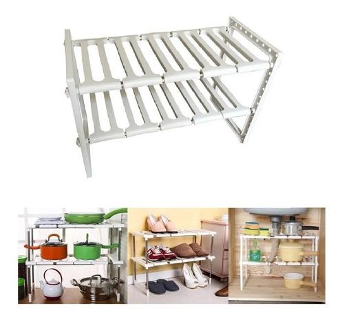 Estante Ajustabl Organizador Multiuso Cocina Baño Dormitorio