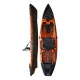 Kayak Hidro2eko Mako 110 Std Naranja Y Negro- Kayak Feelfree