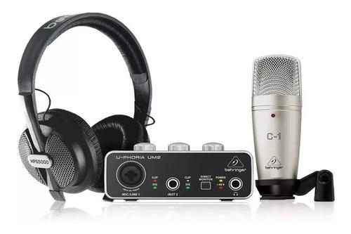 Kit De Grabación Behringer Pro U-phoria Studio C1 Um2 Hps500