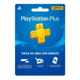 Tarjeta Plus 12 Meses - Playstation Plus 1 Año - Usa