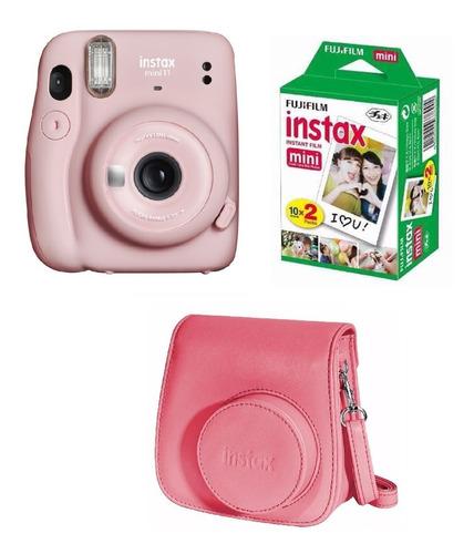 Fujifilm Instax Mini 11 Rosa + 20 Fotos + Funda De Regalo