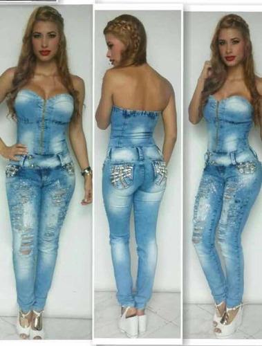 Enterizo Jeans Colombiano Muy Lindo