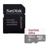 Tarjeta De Memoria Sandisk Sdsqunr-128g-gn6ta  Ultra Con Adaptador Sd 128gb
