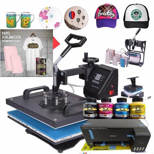 Maquina De Sublimación 11 En 1 Plancha Impresora Tintas Más