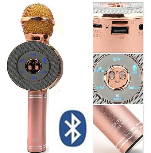 Microfono Karaoke Parlante Bluetooth Luces Audioritmicas