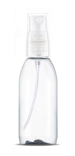 10 Frascos Pet 100 Ml Redondo Válvula Spray Transparente