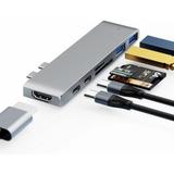Adaptador Hub Macbook Pro 7em1 Usb C + Hdmi 4k + Thunderbolt