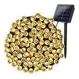 Luces Guirnalda Solar 200 Led Calidas Calido 20 Metros/h017