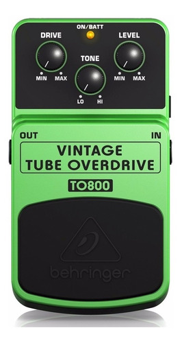 Behringer To-800 Pedal Vintage Tube Overdrive Envío Gratis