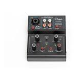 Consola Mixer Interfaz Parquer 2 Canales Phantom Grabación