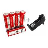 Cargador Pilas Y Baterias + 5 Pilas 18650 Uitraflre 4200 Mah