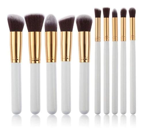 Set Brochas Maquillaje Profesional 10 Unidades