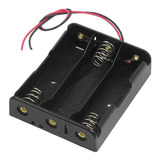 Portapilas Triple Porta Pilas  Holder Para 3 Baterias 18650