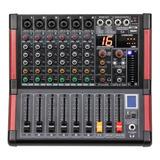 Proco S6 Consola Compacta Audio Mixer  Fx Usb Bt