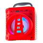 Caixa De Som Grasep Al-301 Portátil Com Bluetooth Vermelha Original