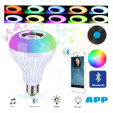 Ampolleta Multicolor Bluetooth Musical Y Con Control 12w