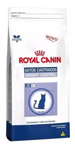 Alimento Royal Canin Veterinary Care Nutrition Feline Gatos Castrados Weight Control Sabor Mix En Bolsa De 7.5kg