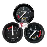 3 Relojes Orlan Rober 52mm Classic Temperatura Agua Aceite Amperimetro
