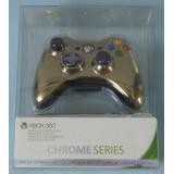 Control Xbox 360. Chrome Series. Dorado. Nuevo.
