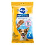 Petisco Para Cães Adultos Raças Pequenas Pedigree Dentastix Pacote 110g 7 Unidades